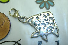 NEW Brighton etched gold fish goldfish water ocean clasp lobster claw charm