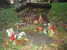 Vintage  Nativity Set Manger Scene Crèche Stable Figures Made in Italy