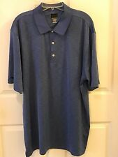 GREG NORMAN MEN'S XL PLAY DRY BLUE SHORT SLEEVE POLO SHIRT EUC Z539