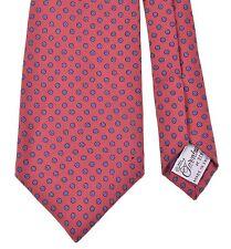 VTG Turnbull & Asser Bergdorf Goodman Twill Macclesfield Foulard Print Silk Tie