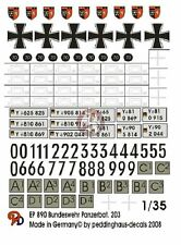 Peddinghaus 1/35 Modern German Tank Battalion No.203 Leopard 2A6 Markings 890