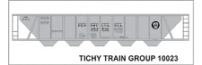 Tichy Train Group #10023 HO Scale PRR H32 Covered Hopper Gray Decals