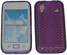 For Samsung GT S5830 Galaxy Ace Gel Jelly Soft Case Protector Cover Purple New