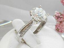 QVC-Diamonique 2 carat 14k white gold solitaire ring Size 7