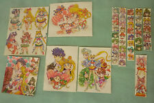 Sailor moon RARE vintage art classic lot glitter shiny sticker couple inner oute