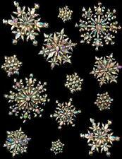 Prismatic Sparkle Snowflake Window decorations Frozen Party Decorations
