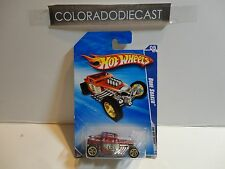 2010 Hot Wheels #143 Satin Red Bone Shaker w/Gold 5 Spoke Wheels