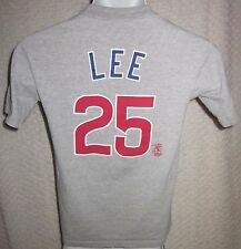 Derrick Lee Chicago Cubs Jersey t-shirt size YOUTH Medium by Majestic