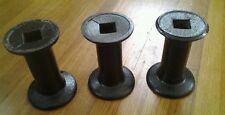 3 Cast Iron Industrial Pillar table leg candle stand lamp base steampunk #4