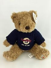 New Hard Rock Cafe San Antonio Collectible Bear Sweater Texas Navy  Jointed