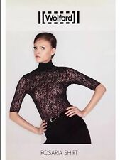 WOLFORD Rosaria Shirt black lace top ~ Size XS ~ 6/8 ~ Rrp £155
