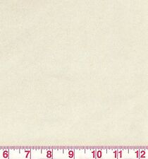 Cream Faux Suede Solid Woven Upholstery Fabric w Backing Unisuede Chamois BTY