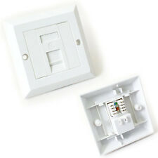 SINGLE PORT CAT6 IDC WALL OUTLET - RJ45 1 WAY FACE PLATE NETWORK LAN SOCKET 8P8C