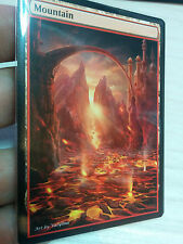 1x Mountain #3 Extended Textless Full Art Custom Altered Basic Land MTG