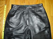 Leather Pants, Womens size 8, Super fine leather and design By Bernard Holtzman