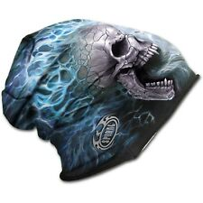Spiral Direct FLAMING SPINE beanie hat biker/gothic/skulls/flames/light cotton