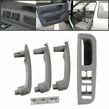 Gray Car Interior Door Grab Handle Cover Switch Bezel For VW Jetta Golf Bora MK4