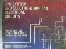 1981-90 Ford AC System Electro Dive Fan Service Manual OEM Electrical Circuits