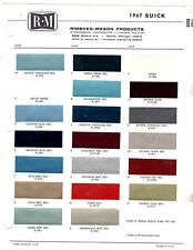 1967 BUICK SPECIAL RIVIERA ELECTRA LESABRE WILDCAT 67 PAINT CHIPS RINSHED MASON2
