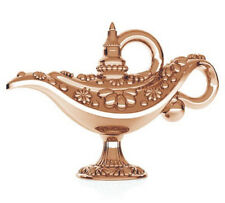ONE STERLING SILVER ALADDIN'S LAMP CHARM / PENDANT, ROSE GOLD PLATED, 13 X 9 MM