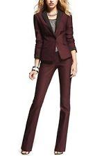 Dark Burgundy Women Ladies Custom Made Business Office Suits Work Wear Tuxedos