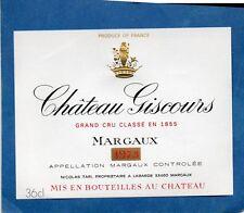 MARGAUX VIEILLE ETIQUETTE CHATEAU GISCOURS 1973 36.5 CL   §21/05§