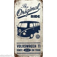 Blechschild 25 x 50, VW Bulli - The Original Ride, Werbeschild Art. 27017