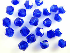 30pcs Loose Royal Blue Glass Crystal Faceted Bicone Beads 8mm Spacer Crafts