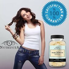 Hair Growth Vitamins Pills Thinning Loss Keep Thicker Longer Fast Growing USA