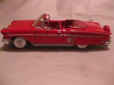 Rare 1958 Chevy Impala Convertible In A Red 124 Scale Diecast By MotorMax  dc494
