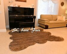 5' x 6'  Grizzly Original Bear Faux Fur Bear skins Mountain Bear Designer Rug