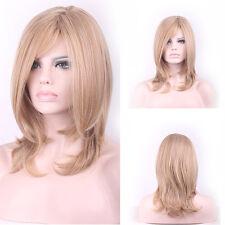 Fashion Sexy Medium Long Curly Wavy Cosplay Full Wig Lady Women Hair Wigs