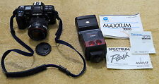 MINOLTA MAXXUM 7000AF 35MM SLR FILM CAMERA W/TONIKA AF 28-70MM LENS AND FLASH
