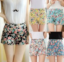 **Flowers Printed Fashion Hot Short Pants With Belt 003  **