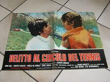 """AUTO CAR FOTOBUSTA DELITTO AL CIRCOLO DEL TENNIS """"69 ROSSETTI MORAVIA,ALFA ROMEO"""