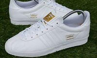 BNWB & Genuine adidas originals Gazelle OG White Leather Trainers Multiple Sizes