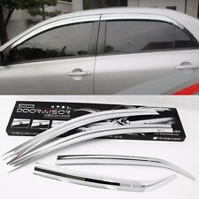 Chrome Window Visor Sun Guard Wind Rain Shield For Toyota Corolla 2011~2013