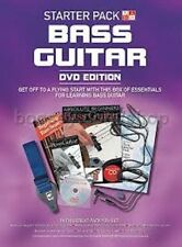 STARTER PACK BASS GUITAR ABSOLUTE BEGINNERS - BOOK, CD, DVD GUITAR STRAP, PICK