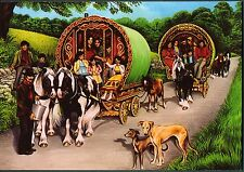 "Romany Gypsy ""Road to Appleby Fair"" Reading Vardo Caravan Bow Top Wagon card"
