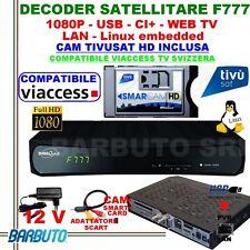DECODER SAT HD DIGIQUEST F777+ CAM TIVUSAT OTTIMO PER TIVUSAT E TV SVIZZERA HD!