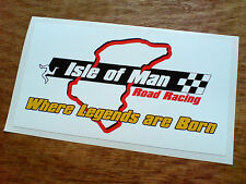 Isla De Man Road Racing Tt ventiladores Motocicleta van Sticker Decal 1 De 125 Mm