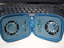 iLive iSB84TL Bluetooth Dual Speaker W/Zipper FREE SHIP (Teal Blue) MSRP $29.99+