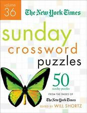 Sunday Crossword Puzzles Vol. 36 : 50 Sunday Puzzles from the Pages of the...