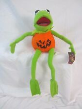 Kermit the Frog Muppets Sesame Street Halloween Pumpkin Doll Plush Stuffed - Z