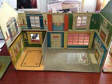 Vintage MARX Tin  Doll House 1940-50s  Colonial  45 pcs Plastic Furniture