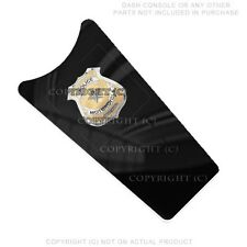 Console Dash Skin For Harley Touring 87-07  -  SILVER GOLD POLICE BADGE - 182