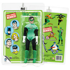 Official DC Comics Green Lantern 8 Inch Action Figure with Mego-Like Retro Card