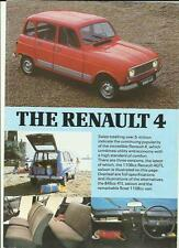 RENAULT 4TL, GTL AND 4F6 VAN CAR  BROCHURE/SHEET EARLY 80's