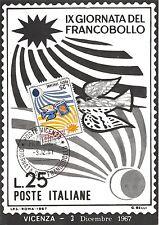 Cartolina - IX Giornata del francobollo - Timbro filatelico -1967