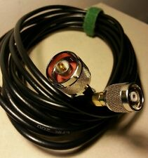 RP-SMA to N Male antenna extension cable 5m (16') low loss LMR-200 shielded